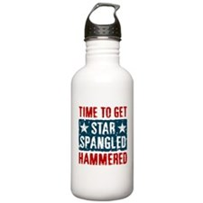 Star Spangled Hammered Water Bottle