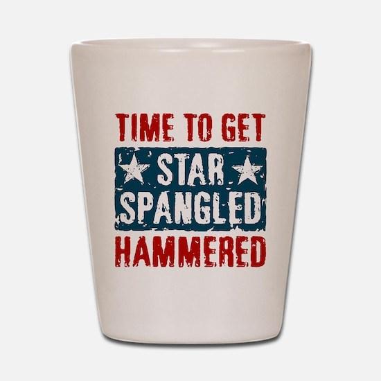 Star Spangled Hammered Shot Glass