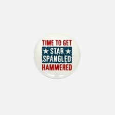 Star Spangled Hammered Mini Button (10 pack)