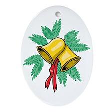 Bells Aringing Oval Ornament