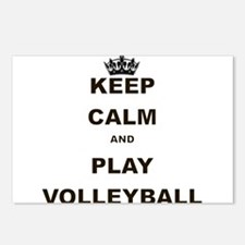 KEEP CALM AND PLAY VOLLEYBALL Postcards (Package o