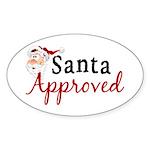 Santa Approved Oval Sticker