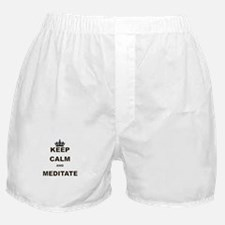 KEEP CALM AND MEDITATE Boxer Shorts