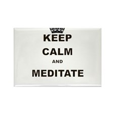 KEEP CALM AND MEDITATE Rectangle Magnet (100 pack)