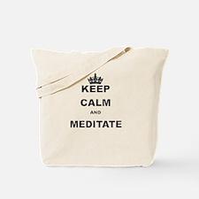 KEEP CALM AND MEDITATE Tote Bag