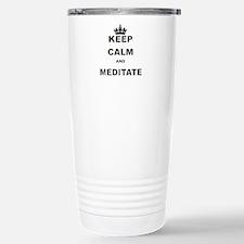 KEEP CALM AND MEDITATE Travel Mug