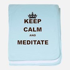 KEEP CALM AND MEDITATE baby blanket