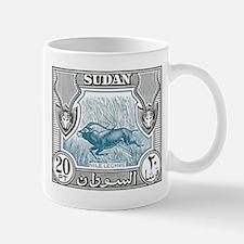 1951 Sudan Nile Lechwe Antelope Postage Stamp Mug