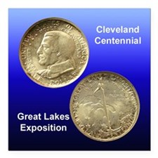Cleveland Centennial Coin Square Magnet 3x3 in