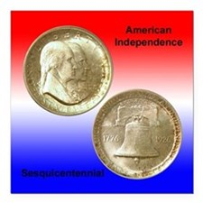 American Independence Coin Square Magnet 3x3 in