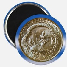 Hudson NY Sesquicentennial Coin Magnet