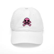 Pink Skull With Moustache Baseball Baseball Baseball Cap
