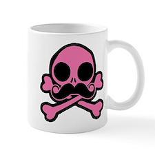 Pink Skull With Moustache Mug