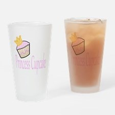 Princess Cupcake Drinking Glass