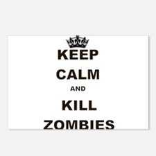 KEEP CALM AND KILL ZOMBIES Postcards (Package of 8