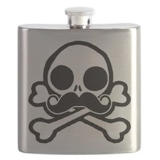 Cute Skull With Moustache Flask