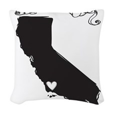 Santa Barbara.png Woven Throw Pillow