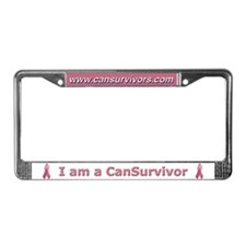 Pink Ribbon License Plate Frame