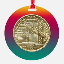 San Francisco Oakland Bridge Coin Ornament