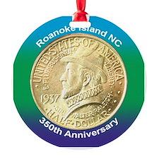 Roanoke Island NC Coin Ornament