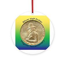 Pilgrim Tercentenary Coin Ornament (Round)