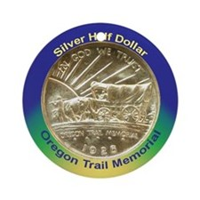 Oregon Trail Coin Ornament (Round)