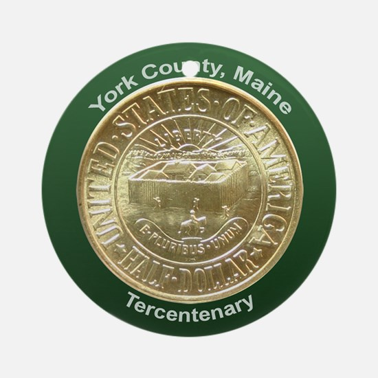 York County Maine Coin Ornament (Round)