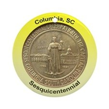 Columbia SC Sesquicentennial Coin Ornament (Round)