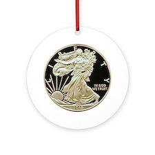 American Eagle Silver Dollar Ornament (Round)