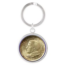Cleveland Centennial Coin Round Keychain