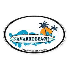 Navarre Beach - Surf Design. Decal