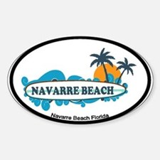 Navarre Beach - Surf Design. Decal