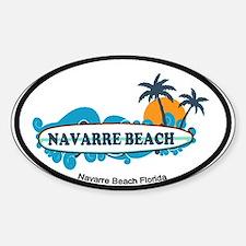 Navarre Beach - Surf Design. Sticker (Oval)