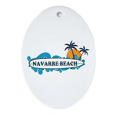 Navarre Beach - Surf Design. Ornament (Oval)