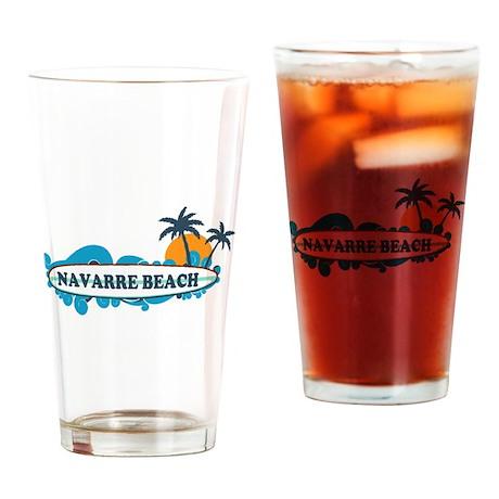 Navarre Beach - Surf Design. Drinking Glass