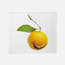 Slug Fruit Throw Blanket