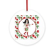 Funky Christmas Diva  Ornament (Round)