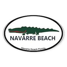 Navarre Beach - Alligator Design. Decal