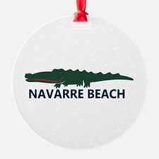 Navarre Beach - Alligator Design. Ornament