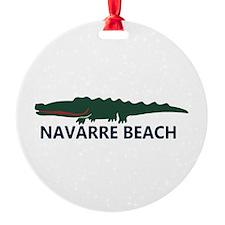 Navarre Beach - Alligator Design. Round Ornament