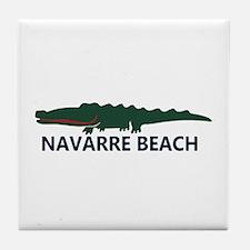 Navarre Beach - Alligator Design. Tile Coaster