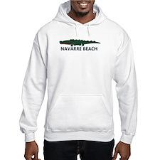 Navarre Beach - Alligator Design. Hoodie Sweatshirt