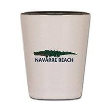 Navarre Beach - Alligator Design. Shot Glass
