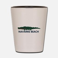 Navarre Beach - Alligator Design. Shot Glass