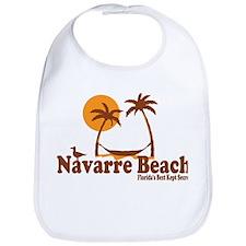 Navarre Beach - Palm Trees Design. Bib