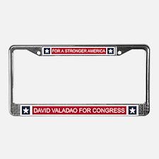 Elect David Valadao License Plate Frame