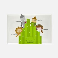 Wizard of Oz-Cute Characters Rectangle Magnet