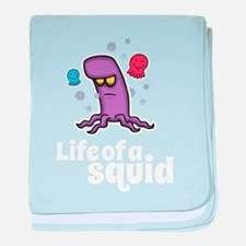 Life of a squid baby blanket