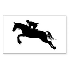Horse Jumping Silhouette Decal