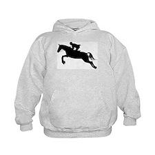 Horse Jumping Silhouette Hoodie